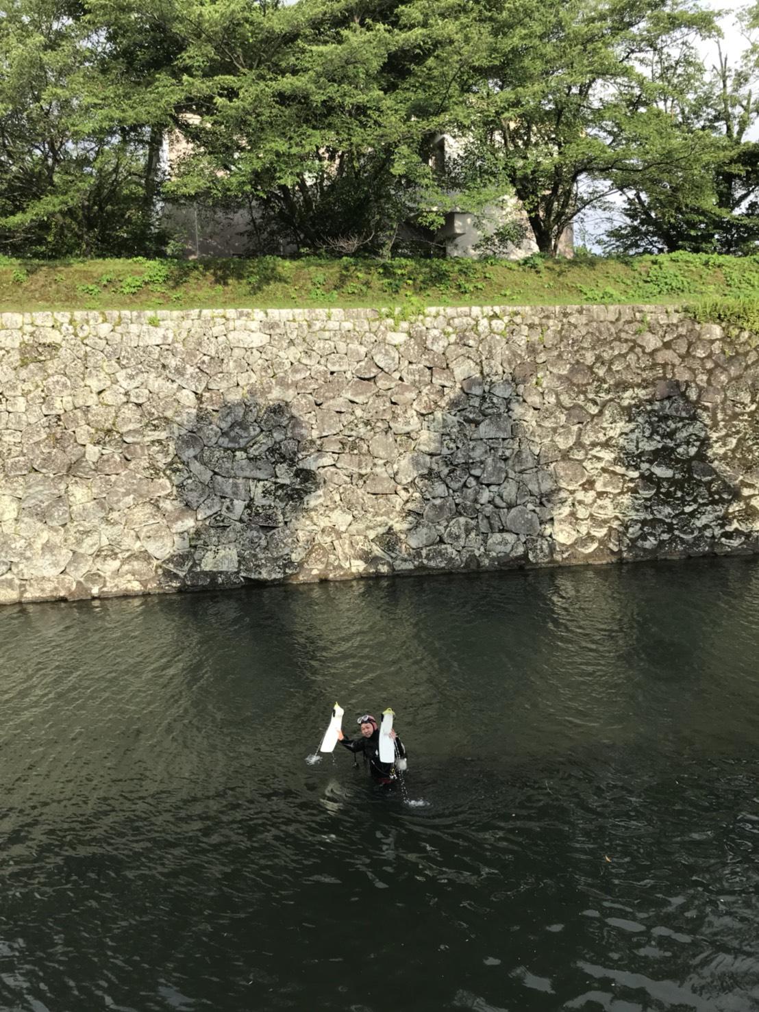 駿府城でダイビング?! 静岡市のダイビングショップフリースタイルです。